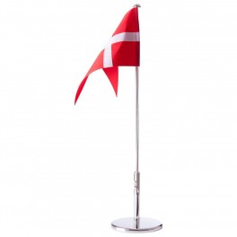 Fortinnet Dannebrogsflag dåbsfod, 40 cm