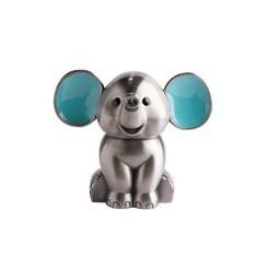 Fortinnet sparebøsse elefant med blå ører