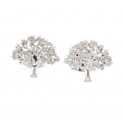 """""""Livets træ"""" Originalen sølv rohdineret ørepynt Design Kim Colding"""