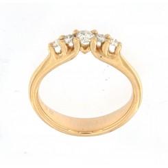 """""""Cotessa ringen"""" 5 sten mellem hjertet"""