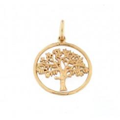 """""""Livets træ"""" cirklen 14kt. 15 mm originalen design Kim Colding"""