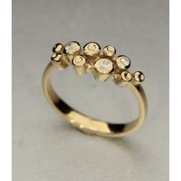 """""""Cava ringen"""" Colding design leveres uden brillanter. Brillanter fra kr. 600 incl. gratis isættelse"""