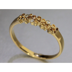 """Champagne ringen"" Colding design med tre brillanter 0.045 TW vs"