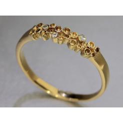 """Champagne ringen"" Colding design med tre brillanter 0.045 TW vs"