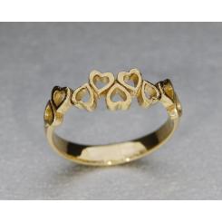 """""""Dansende hjerter"""" 1 ringen findes i flere breder"""