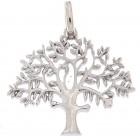 """""""Livets træ sølv"""" stor 25mm  originalen Design Kim Colding"""