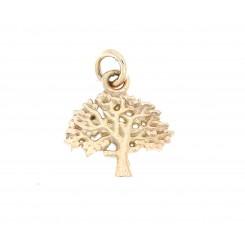 """""""Livets træ"""" sølv forgyldt 12 mm originalen design Kim Colding"""