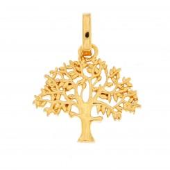 """""""Livets træ"""" sølv forgyldt 19 mm originalen design Kim Colding"""