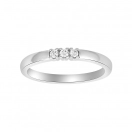 14kt. hvidgulds ring m. dia. 3 x 0.03ct W/SI
